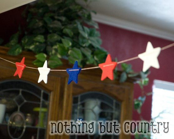 Decorating on a budget – Star Garland – 4th of July | Nothing But