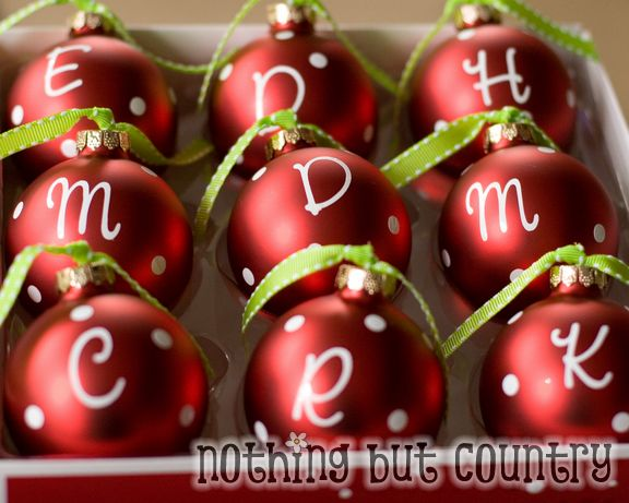 Easy Personalized Christmas Ornaments | Nothing But Country