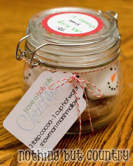 Snowmen Hot Cocoa – Christmas Gift in a Jar | Nothing But Country