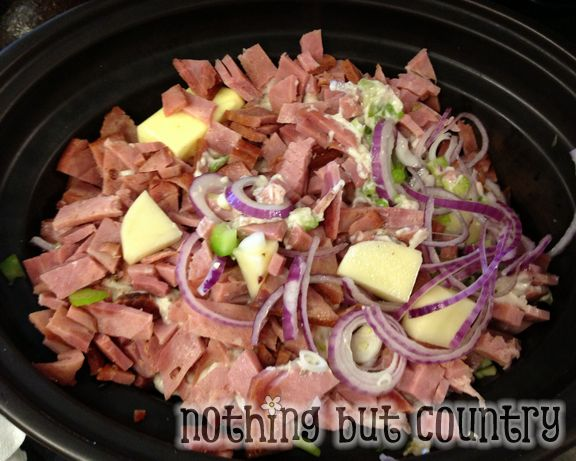Creamy Ham & Potato Soup in Crock Pot