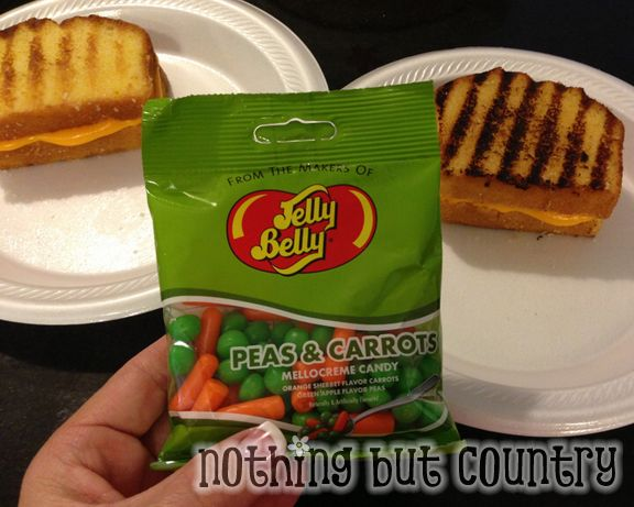 April Fool's Day 2013 - Grilled Cheese Peas & Carrots for Dessert | NothingButCountry.com