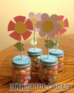 Easter &amp; Visiting Teaching April 2013 Candy Flower Favors | NothingButCountry.com