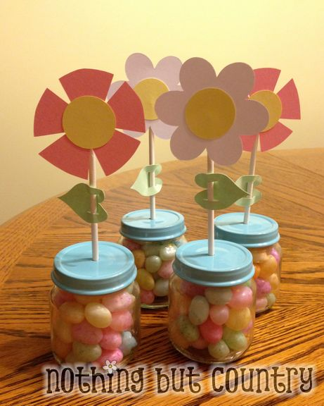 Easter & Visiting Teaching April 2013 Candy Flower Favors | NothingButCountry.com