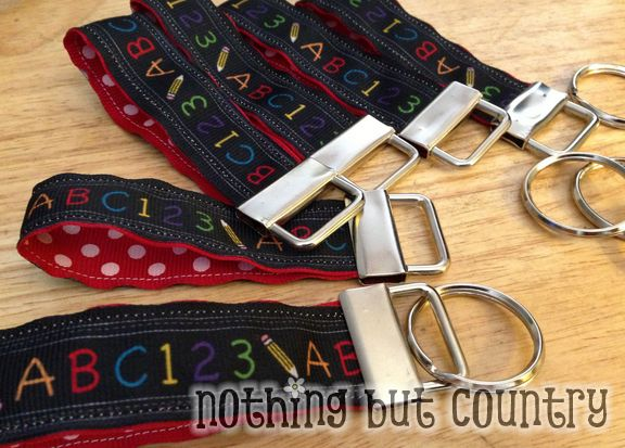 You are a FOBulous Teacher / Friend - Mini Ribbon Key Fobs | NothingButCountry.com