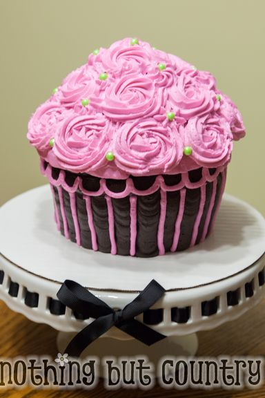 Giant Cupcake Cake | NothingButCountry.com