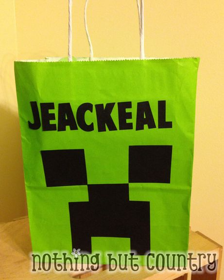 DIY Minecraft Birthday Gifts | NothingButCountry.com