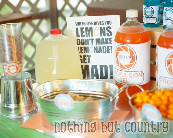 Teen Birthday Party - Portal 2 Theme | NothingButCountry.com