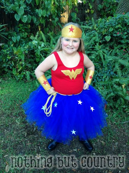 NO SEW Wonder Woman Costume | NothingButCountry.com
