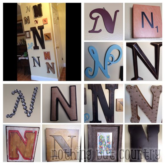 Typography Home Decoration - Letter N Wall - Home Improvement