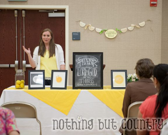 Relief Society Night Meeting - When life hands you lemons make lemonade | NothingButCountry.com
