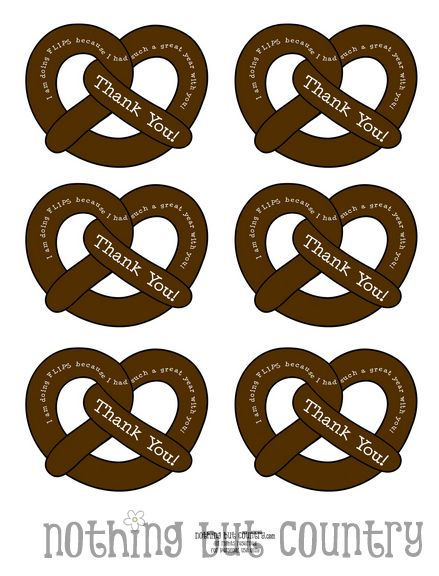 I am doing FLIPS - Teacher Appreciation Gift - Chocolate Pretzels