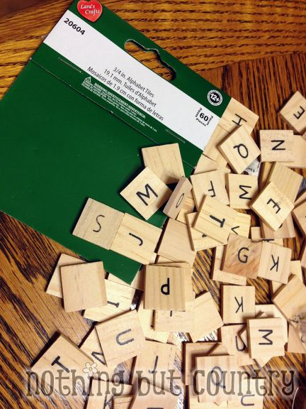Faux Scrabble Family Frame - DIY Gift | NothingButCountry.com