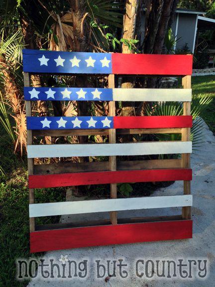 Patriotic Flag Pallet - Pinterest Project Success   NothingButCountry.com