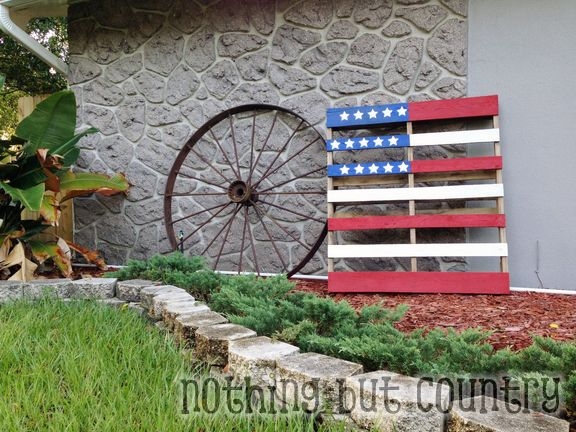 Patriotic Flag Pallet - Pinterest Project Success | NothingButCountry.com