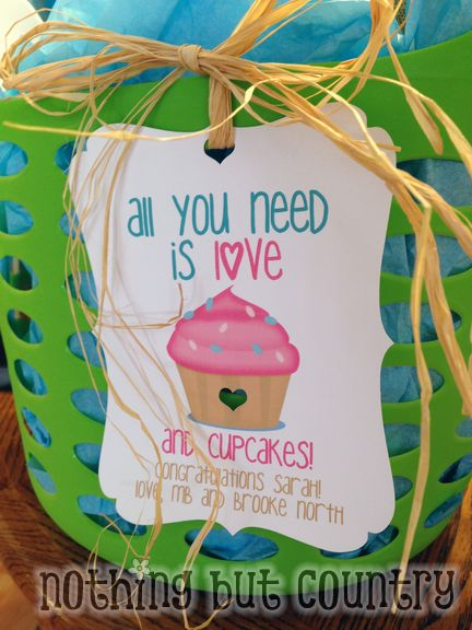 Cupcake Theme Bridal Shower Gift | NothingButCountry.com