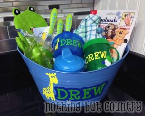 Boy Baby Shower Gift Basket | NothingButCountry.com