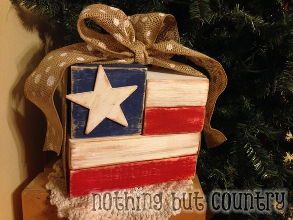 Wooden Flag Blocks | NothingButCountry.com