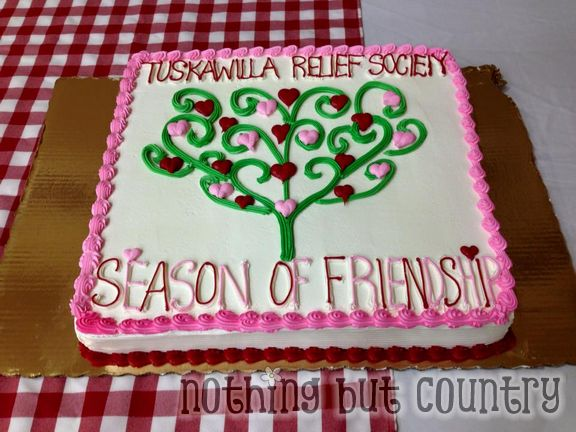 The season of Friendship lasts forever - Relief Society Night