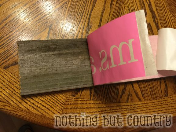 Wood Teacher Name Sign - Teacher Appreciation Week 2015