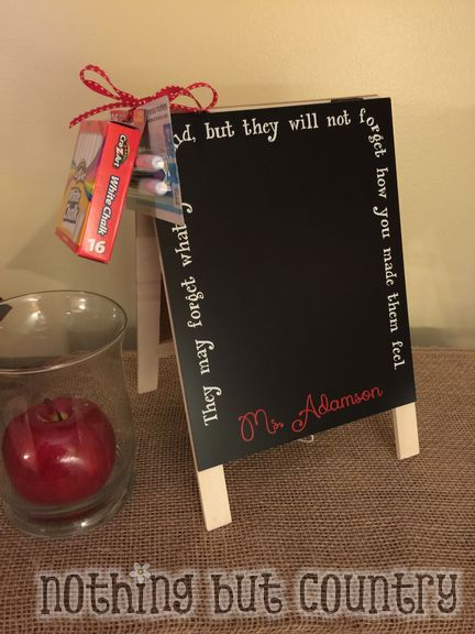 Teacher Chalkboard & Dry Erase Board Easel - Teacher Appreciation Week