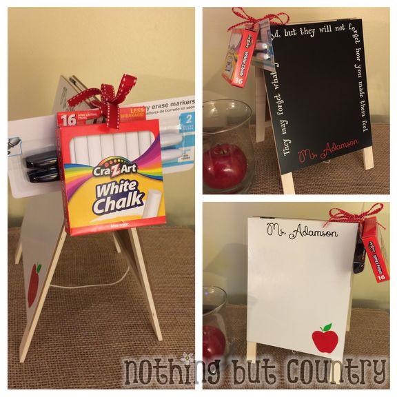 Teacher Chalkboard & Dry Erase Board Easel - Teacher Appreciation Week