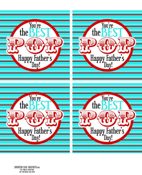 Best Pop - Father's Day Free Printable