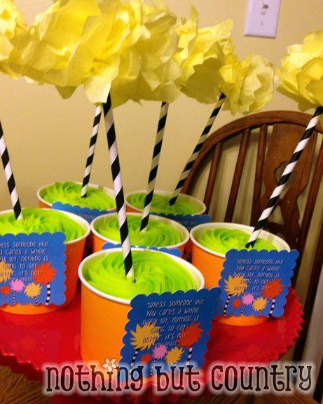 Dr. Seuss Truffula Tree Cupcakes | NothingButCountry.com
