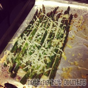 Lemon Pepper and Cheese Asparagus | NothingButCountry.com