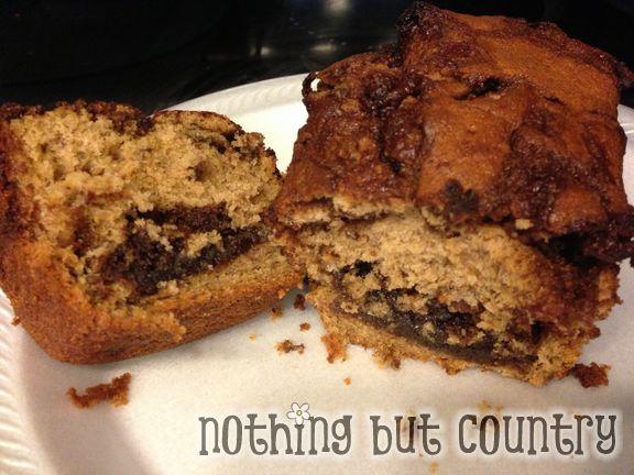 Nutella Banana Bread   NothingButCountry.com