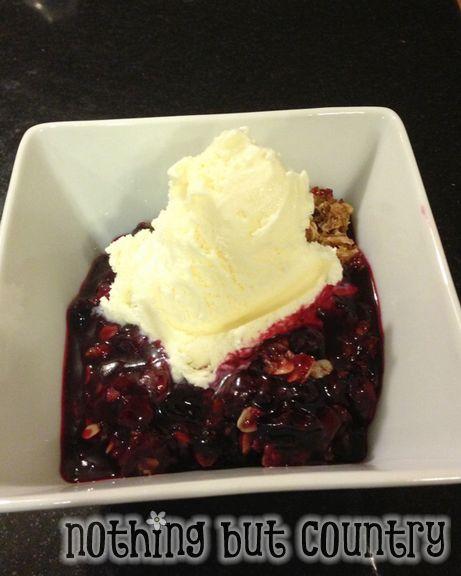 Homemade Blueberry Crumble | NothingButCountry.com