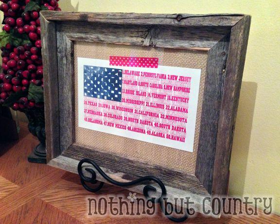 United States Flag Print Framed | NothingButCountry.com