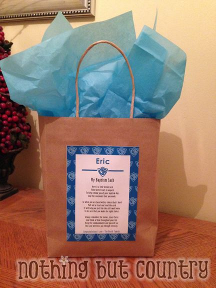 My Baptism Sack | Candy Gift | NothingButCountry.com