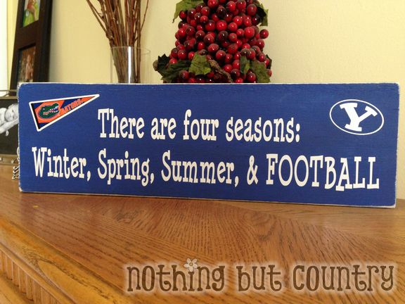 Pinterest Inspired Wooden Football Sign | NothingButCountry.com