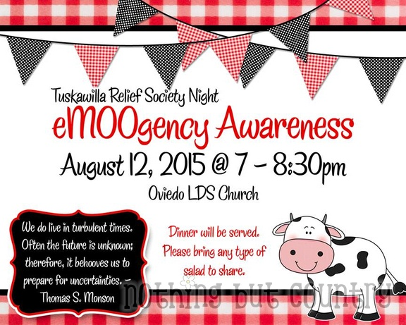 eMOOgency Awareness - Relief Society Night